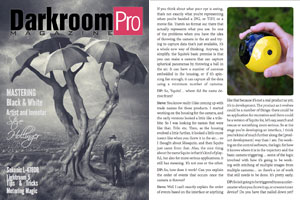 Steve Hollinger, Interview, Darkroom Pro Magazine, Sept 2013